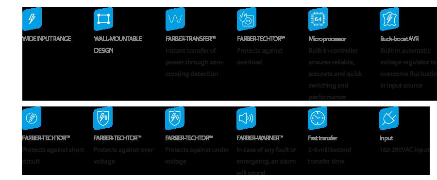 FFA-UPSW-12V-850-1PH Feature